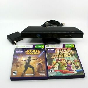 KINECT-XBOX-360-Sensor-Kinect-Adventures-and-Star-Wars-Games-Bundle
