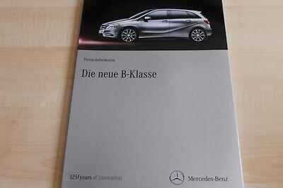 103242) Mercedes B-klasse Pressemappe 08/2011 Delikatessen Von Allen Geliebt