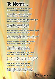Detalles De Baby George Macdonald Kids Poem Happy Birthday Personalised Greeting Card