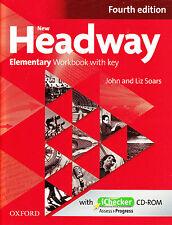 Oxford NEW HEADWAY Elementary FOURTH EDITION Workbook w Key& iChecker CD-ROM New