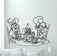 Alice In Wonderland Wall Decal Rabbit Hatter Vinyl Sticker Cartoons Mural  19crt