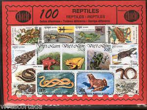 Mon ChéRi 100 Timbres Différents Du Monde Utilisé En @@ Thème : Reptiles @@ SuppléMent éNergie Vitale Et Nourrir Yin