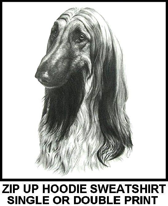 VERY COOL AFGHAN HOUND DOG ART ZIP HOODIE SWEATSHIRT 754