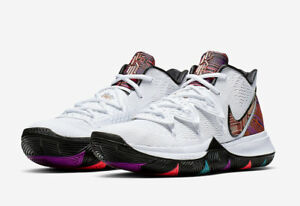 check out 43574 96035 Image is loading 2019-NIKE-KYRIE-5-BHM-GS-WHITE-METALLIC-