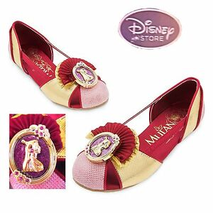 NEW Disney Store Princess Mulan Girl Dress Up Shoes Size 13/1 ...
