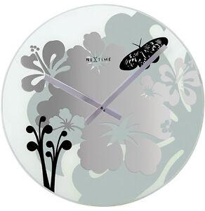 Nextime-Hibiscus-Horloge-murale-8087