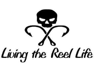 funny bumper fishing sticker vinyl decal fly trout fish rod reel jigs boat