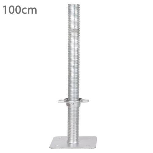 Kippspindel Gerüstspindel Gerüstfüße Spindel neu Gerüst 38mm 100 cm bew.Fußplatt