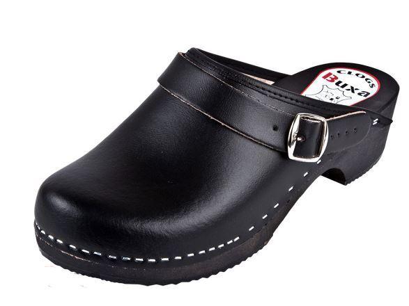 Zuecos De Madera Color Negro (mujer) con correa trasera de de de diapositiva detrás de la Hile  buscando agente de ventas