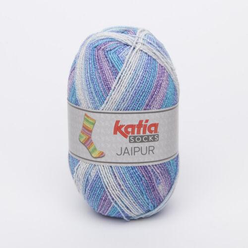100g Jaipur socks katia calcetines lana 4-especializada degradado 54 lana calcetines similares regia