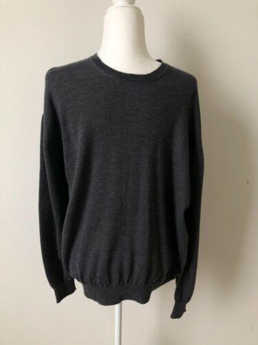 Inis Meain Gray Merino Wool Crew Neck Sweater Men'