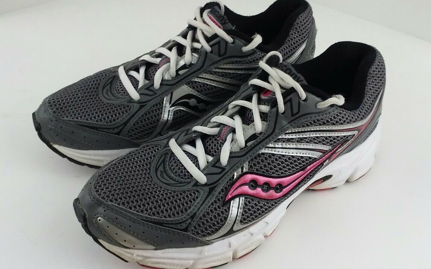 Saucony Grid Size Cohesion 7 Athletic Shoes Size Grid 8.5 Sneakers 15181-2 Pink Gray ada73f