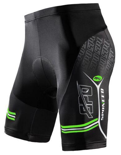 Padded Bike Shorts Men/'s Breathable Cycling Pants Half Sleeve Cyclist Gear Cloth