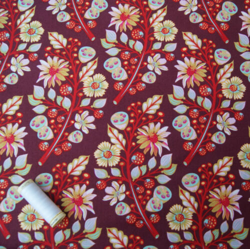 FQ Metre Sprout Tula Pink Moon Shine Cotton Fabric Quilting Dressmaking