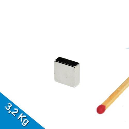 Nickel 30 NEODYM MAGNETE  10 x 10 x 4mm NdFeB N45 Quadermagnet