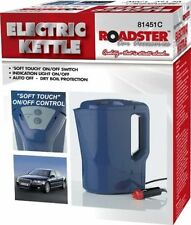 12V ELECTRIC KETTLE PORTABLE VAN CAR LORRY CIG LIGHTER 1LTR PLUG IN MOTOR BLUE