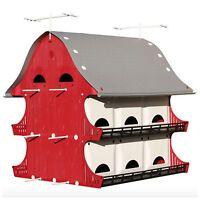 Purple Martin Bird House Birdhouse Perch Kit Outdoor Garden Landscape Decor