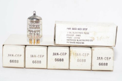 Gold Pin NOS E180F Röhre Vaccum Tube Vintage MIL spec Amperex JAN-CEP 6688