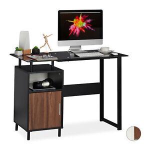 Bureau-avec-Pupitre-de-verre-Compartiments-Table-de-travail-de-bureau-table-de