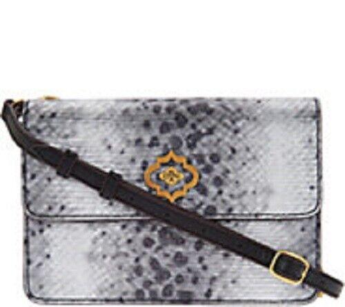 MSRP $205 orYANY Pebble Leather Crossbody Silver Snake