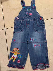 Rare-Upsy-Daisy-In-The-Night-Garden-Denim-Dungarees-Age-12-18-Months