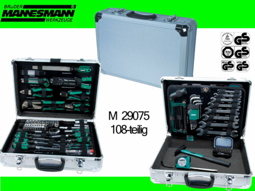 Mannesmann m29075 alu Boîte à Outils jeu d'outils 108tlg. boîte à outils 29075