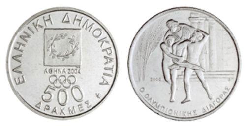Ancient Winner Diagoras Greece 500 Drachmes 2000 UNC KM#177 2004 Olympics