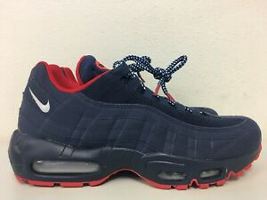 Details about Nike Air Max 95 Premium Midnight Navy White Red USA BV1255 400 Size 7.5