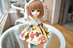 Lovely Little Girl Free Eyes FaceUp Ball Jointed Doll SIZE 1//6