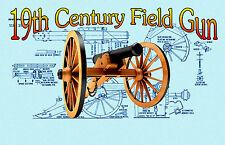 BUILD A MODEL 6Lb 19th Century Field Gun Full Size Printed PLANS & Build Article