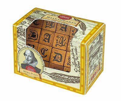 Abile Shakespeare's Word Puzzle: Professor Puzzle Rompicapo Grandi Menti In Legno-mostra Il Titolo Originale Elaborato Finemente