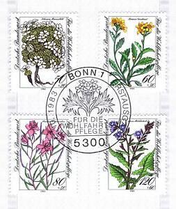 Rfa 1983: Alpes Fleurs Providence Nr 1188-1191 Avec Bonner Ersttags Cachet 1a! 1606-l 1a! 1606fr-fr Afficher Le Titre D'origine éGouttage