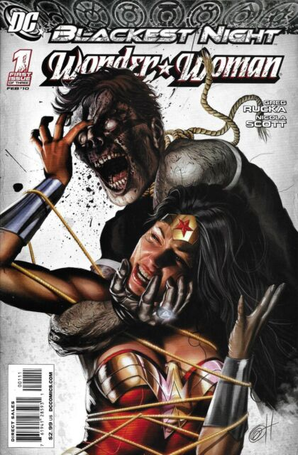 Wonder Woman Comic Issue 1 Blackest Night Cover A First Print 2010 Rucka DC