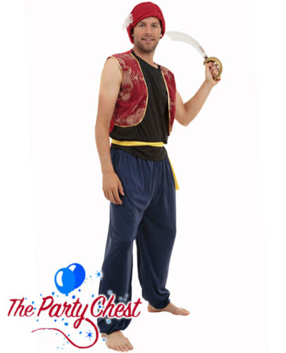 ADULT ARABIAN BANDIT PANTO COSTUME Ali Baba Genie Fancy Dress Outfit AC299