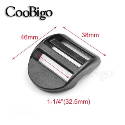 """3//4/""""~2/"""" Plastic Ladder Lock Slider Adjustable Buckle for Backpack Strap Webbing"""
