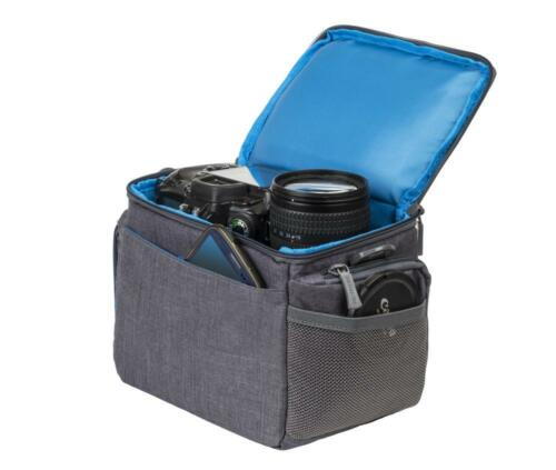 Riva 7502 Colt Protección Bolsa funda de silicona canvas gris para Fujifilm x-t10