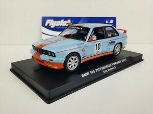 Slot-car-Scalextric-Flyslot-Ref-038106-BMW-M3-E30-Pittsburgh-Vintage-2007