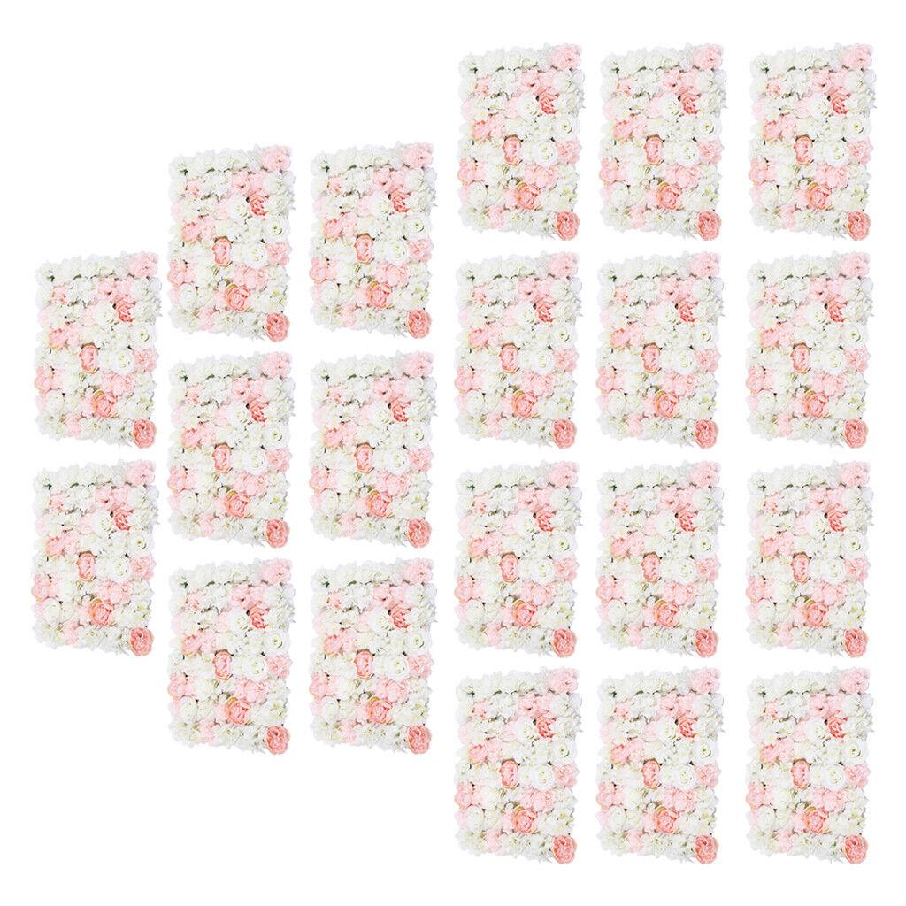 20 pièces phrase romantique Artificielle Fleur Mur fleurs d'ornement