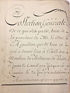 1770-18c-French-Manuscript-Calligraphy-Handwritten-300-pp-Pre-Revolutionary-War