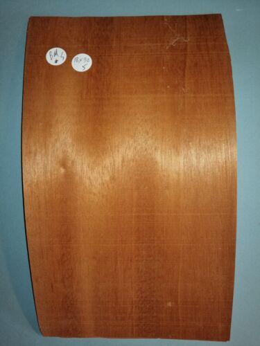 Hojas consecutivos de Chapa de caoba brasileña 18 X 32 cm BM#5 Taracea