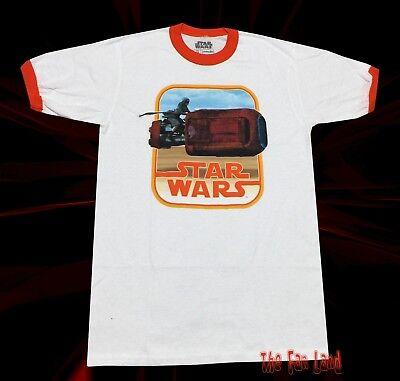 REY DAISY RIDLEY STAR WARS FORCE AWAKENS ORIGINAL ART T SHIRT NEW S MED LG XL