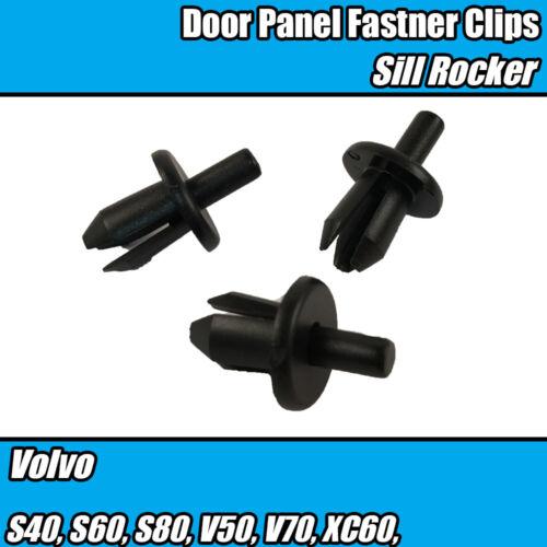 50x Puerta Panel Umbral Forros Escudo cubre Parachoques Escudos Recortar Clips Para Volvo