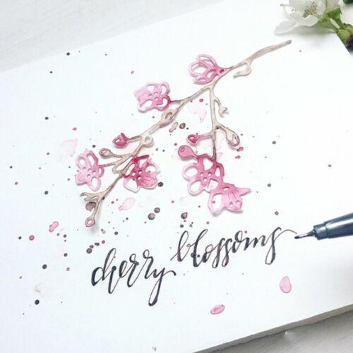 Flower Branch Metal Cutting Dies Stencil DIY Scrapbooking Paper Card Embossing