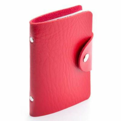 W8466 Soft Faux Leather Credit Card Holder for 10 Cards Popper Fastening