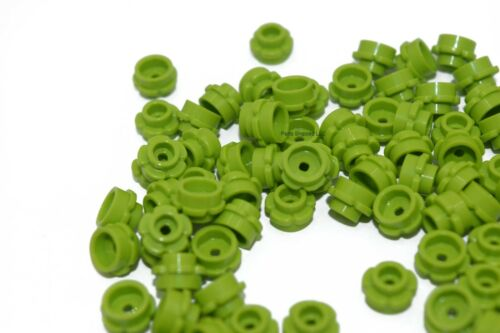 100 NEW Lego Bright Yellow Green Flowers 1x1 24866 plant city town foliage lime