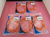 Lot Of 5 C2g 7' Cat6 Patch Rj-45(m)-rj-45(m) Orange Utp Network Cables
