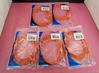 Lot Of 5 C2g 7' Cat6 Patch Rj-45(m)-rj-45(m) Orange Utp Network Cables