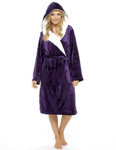 in Citycomfort Gonna Super Dressing Robe foderato da cappuccio donna Soft pelliccia con Luxury rwqrnUTWP