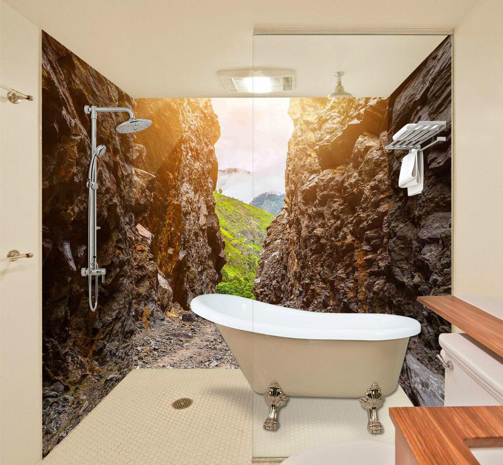 3D Mountain Path 046 WallPaper Bathroom Print Decal Wall Deco AJ WALLPAPER CA