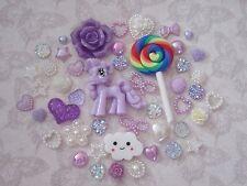 Pony Decoden Mix Set FlatBack Resin Cabochon Kawaii Phone Case Embellishment Bow